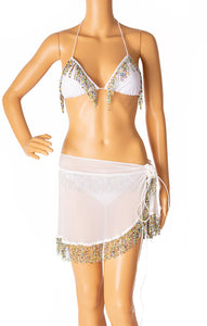 Front view of OSEREE Bikini and wrap Size: Large