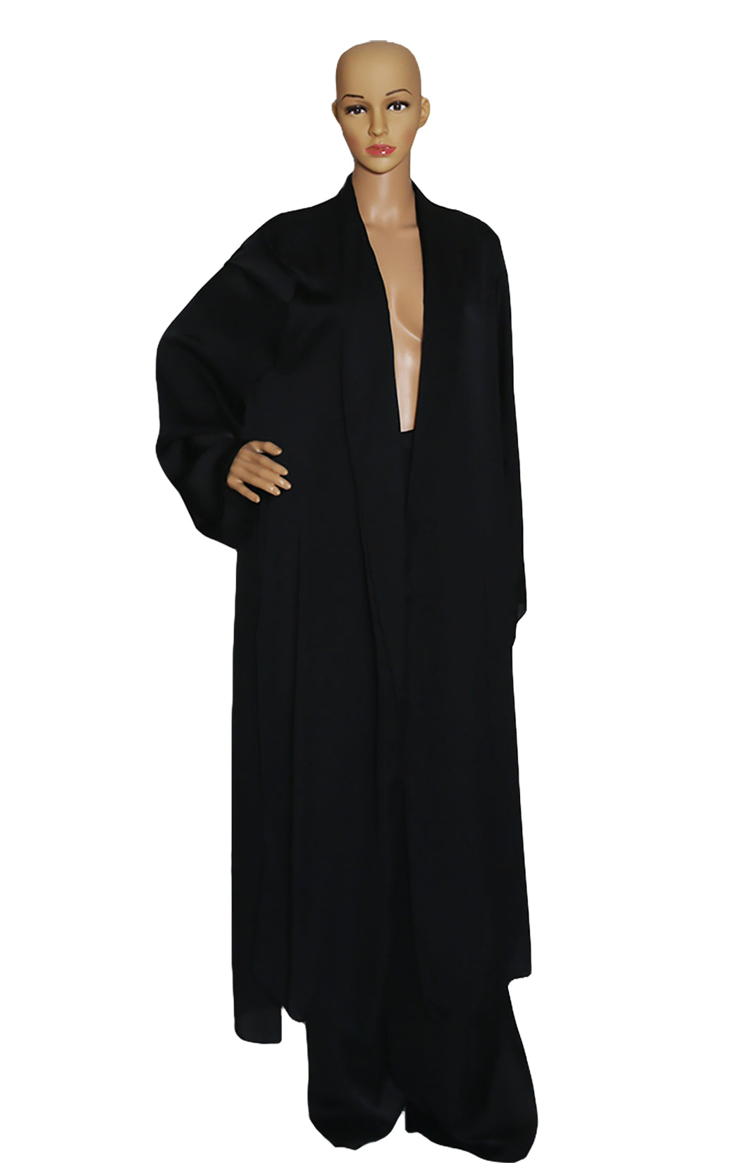 Front view of JUAN CARLOS ORLANDO  Black Coat and Pant  Coat Size: US 6 Pant Size: US 10