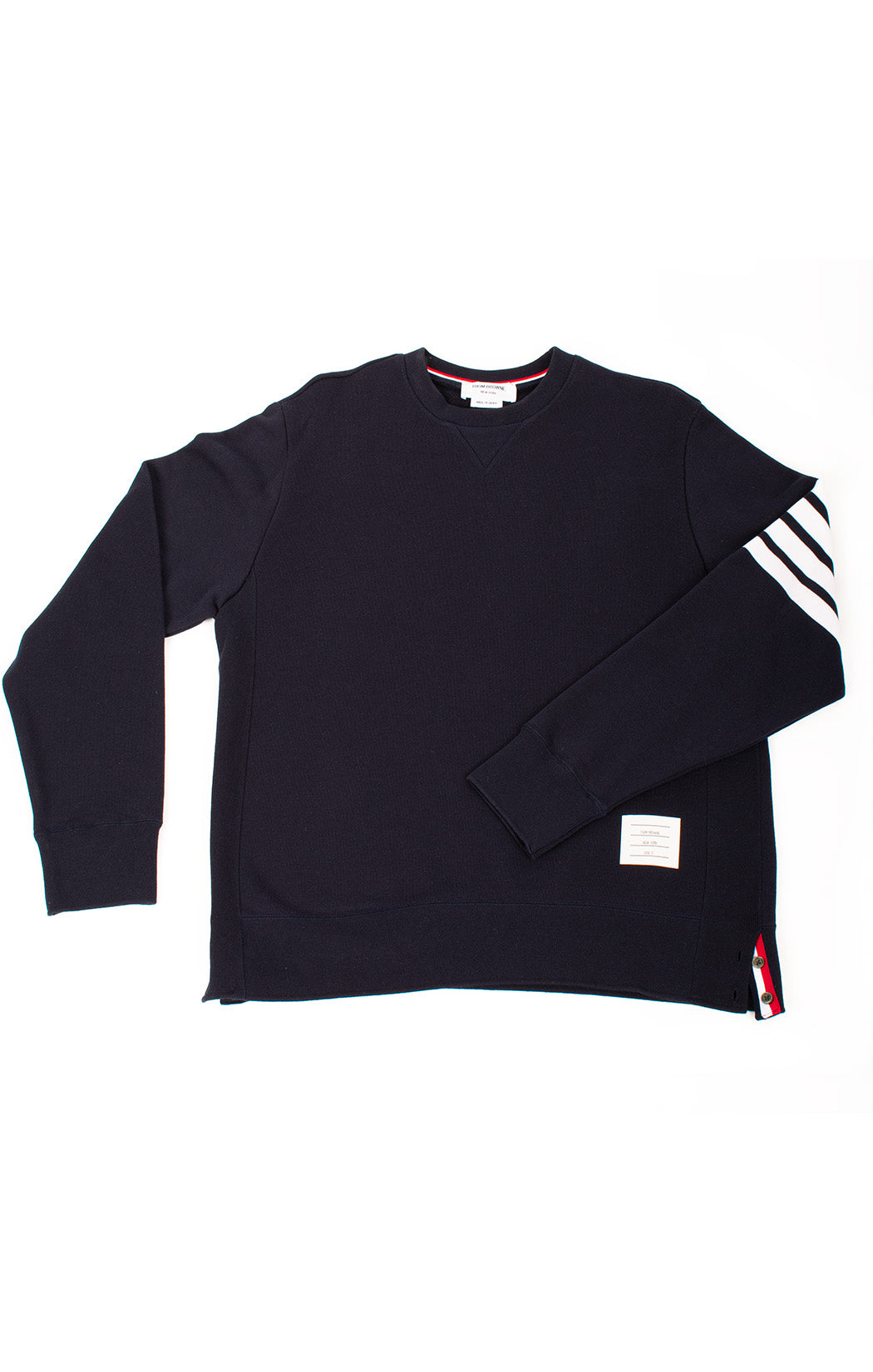 Front view of THOM BROWNE with tags Sweatshirt Size 5 (comparable to XL- XXL)