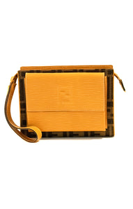 "Front view of FENDI Wrist bag Size: 6.5"" W, 5"" H, 2"" D"