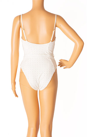 Back view of ONIA with tags One piece bathing suit