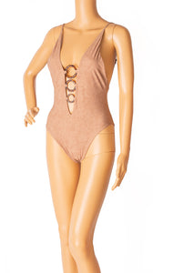 Front view of ANGELYS BALEK One piece bathing suit Size: 6