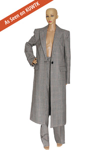 As seen on KUWTK, Front view of GIVENCHY  Plaid Coat and Pant Suit Size: FR 42 (US 10)