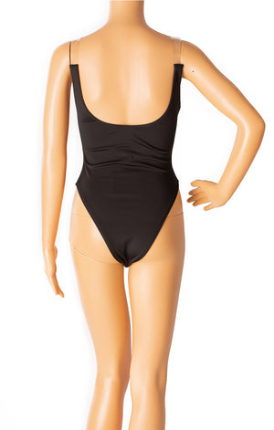 Back view of JLUXLABEL with tags One piece bathing suit