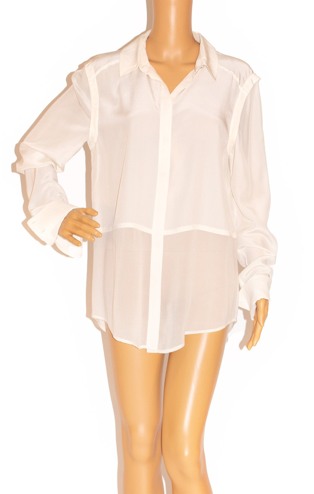 Closeup view of T by ALEXANDER WANG Blouse Size: Medium
