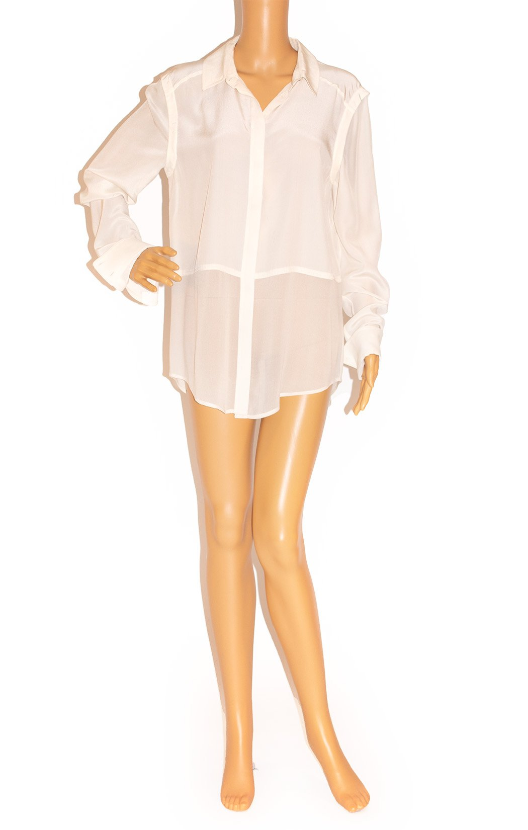 Front view of T by ALEXANDER WANG Blouse Size: Medium