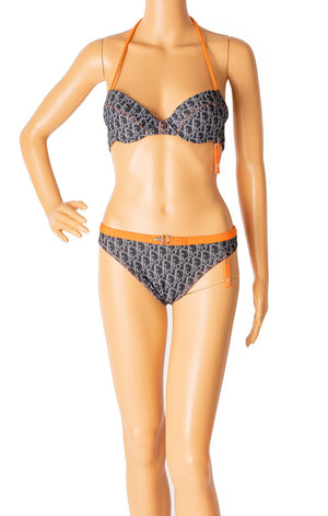 Front view of CHRISTIAN DIOR Bikini without wrap skirt