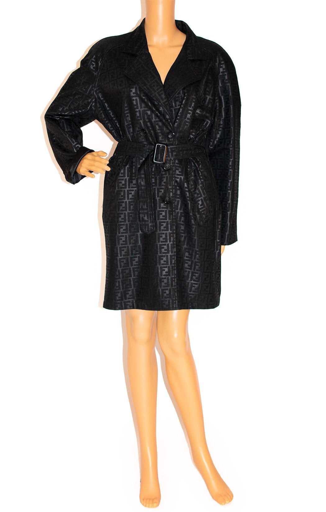 Front view of FENDI jeans Trench coat