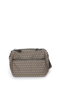 Front view of FENDI Diaper Bag Size: 13 in x 12 in x 5.5 in