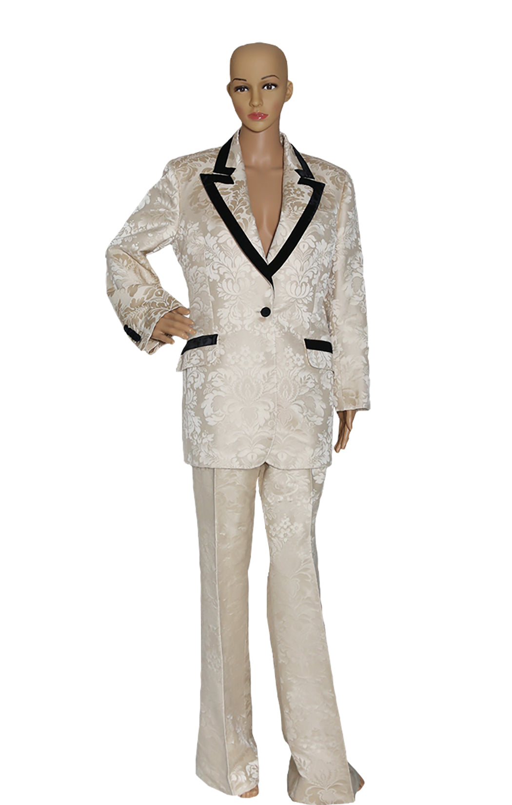 Front view of GUCCI  Brocade Suit Size: IT 46 (US 10)