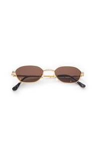 "Front view of GUCCI with case Sunglasses Size: 1.5"" H x 4.5"" W"