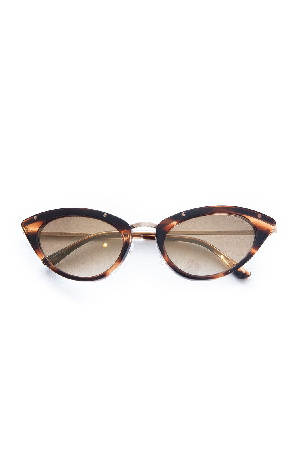 "Front view TOM FORD with case Sunglasses Size: 1.5"" H x 6"" W"