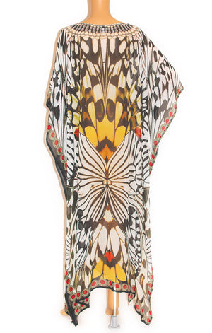 Back view of CHRONAS Caftan