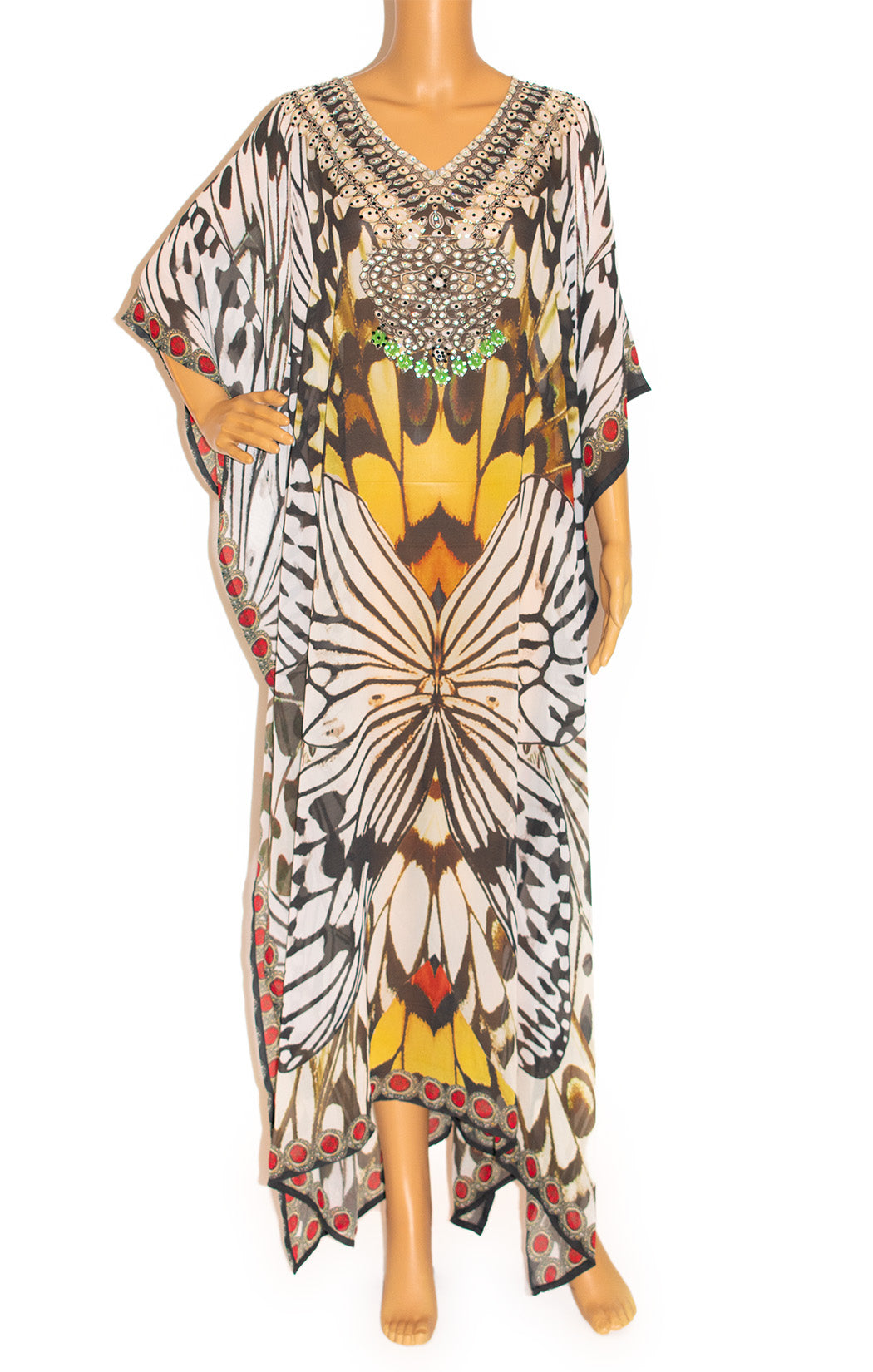 Front view of CHRONAS Caftan Size: one size