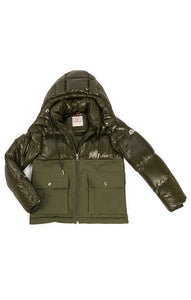 Front view of MONCLER with tags Down parka  Size: Large