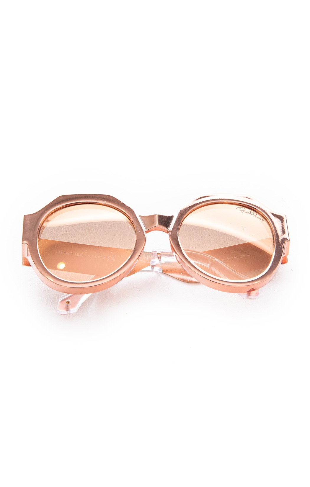 "Front view of ROBERTO CAVALLI with case Sunglasses  Size: 2.5"" H x 6"" W x 1/3"" D"
