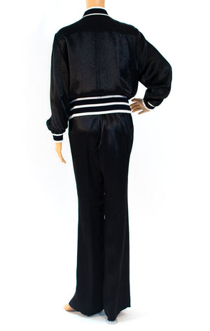 Back view of CHANEL Track/sweat/pant suit