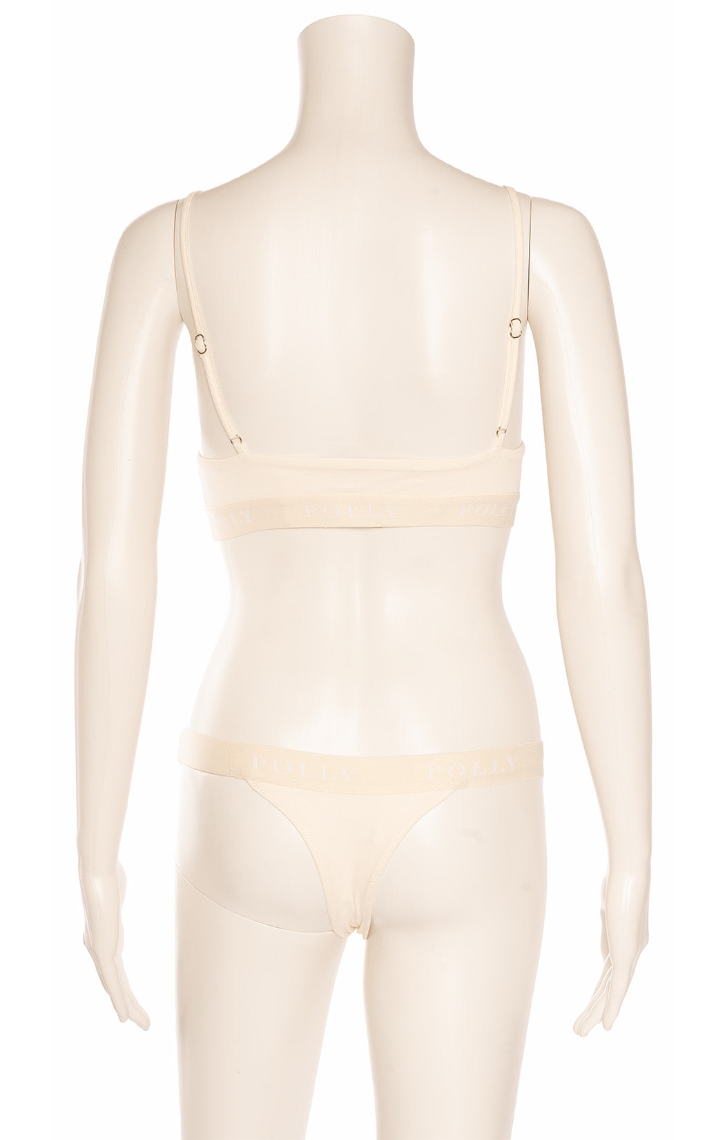 Ivory colored matching bra and panty set