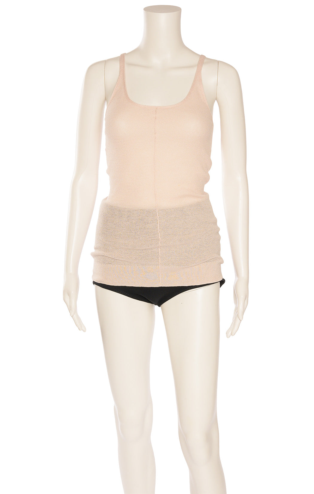 Light pink textured fabric tank style knit top