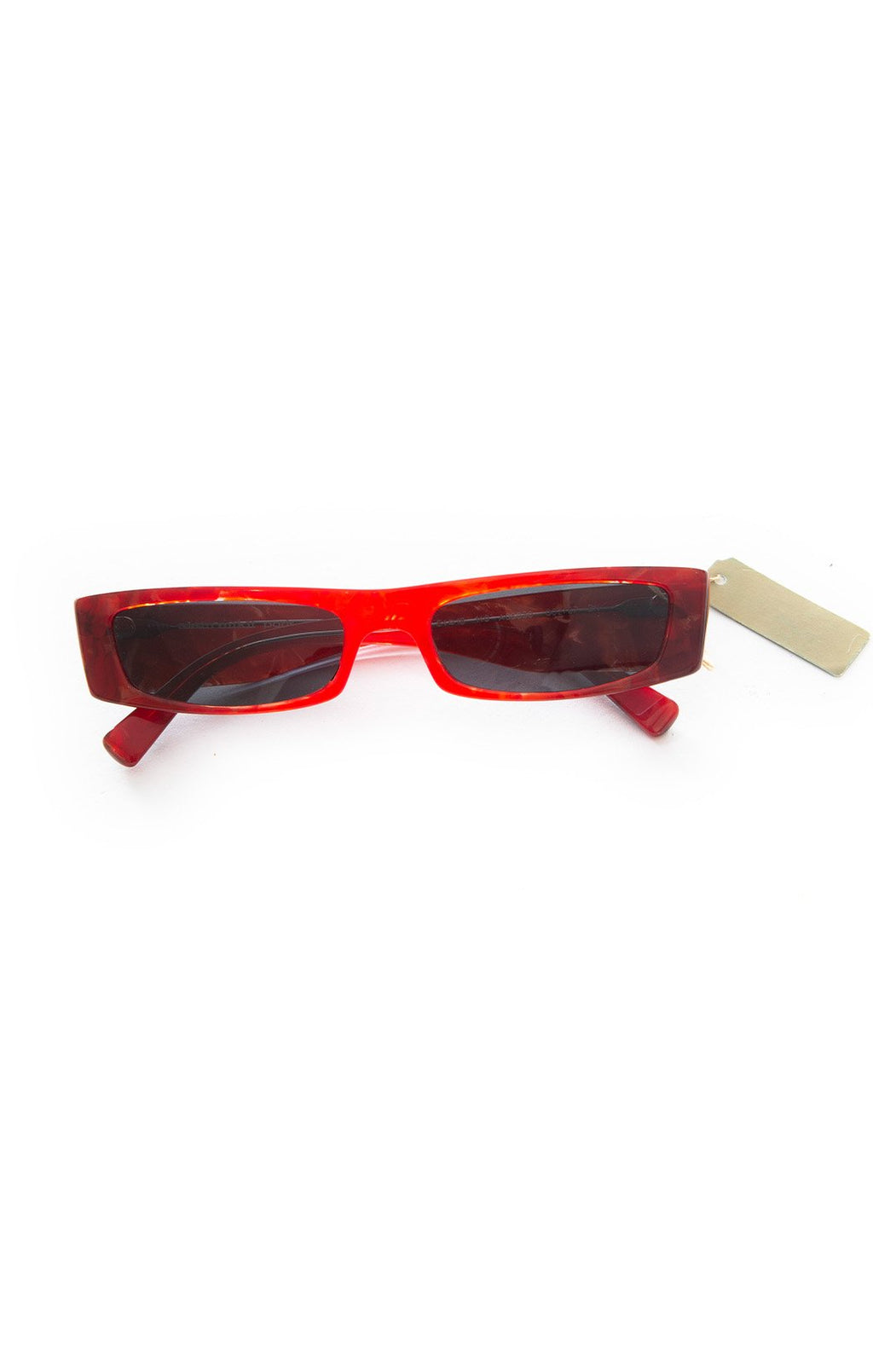 "Front view of ALEXANDRE VAUTHIER for Alain Mikli with tags Sunglasses Size: 1.25"" H x 5.5"" W"