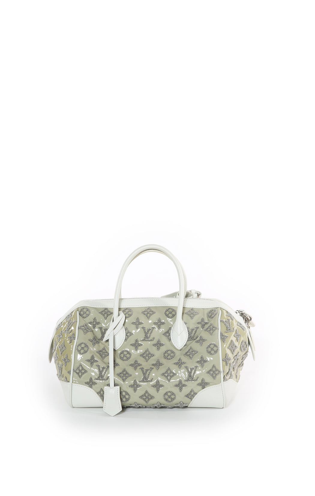 Front view of LOUIS VUITTON Handbag Size: 11.5 in x 8 in x 8 in