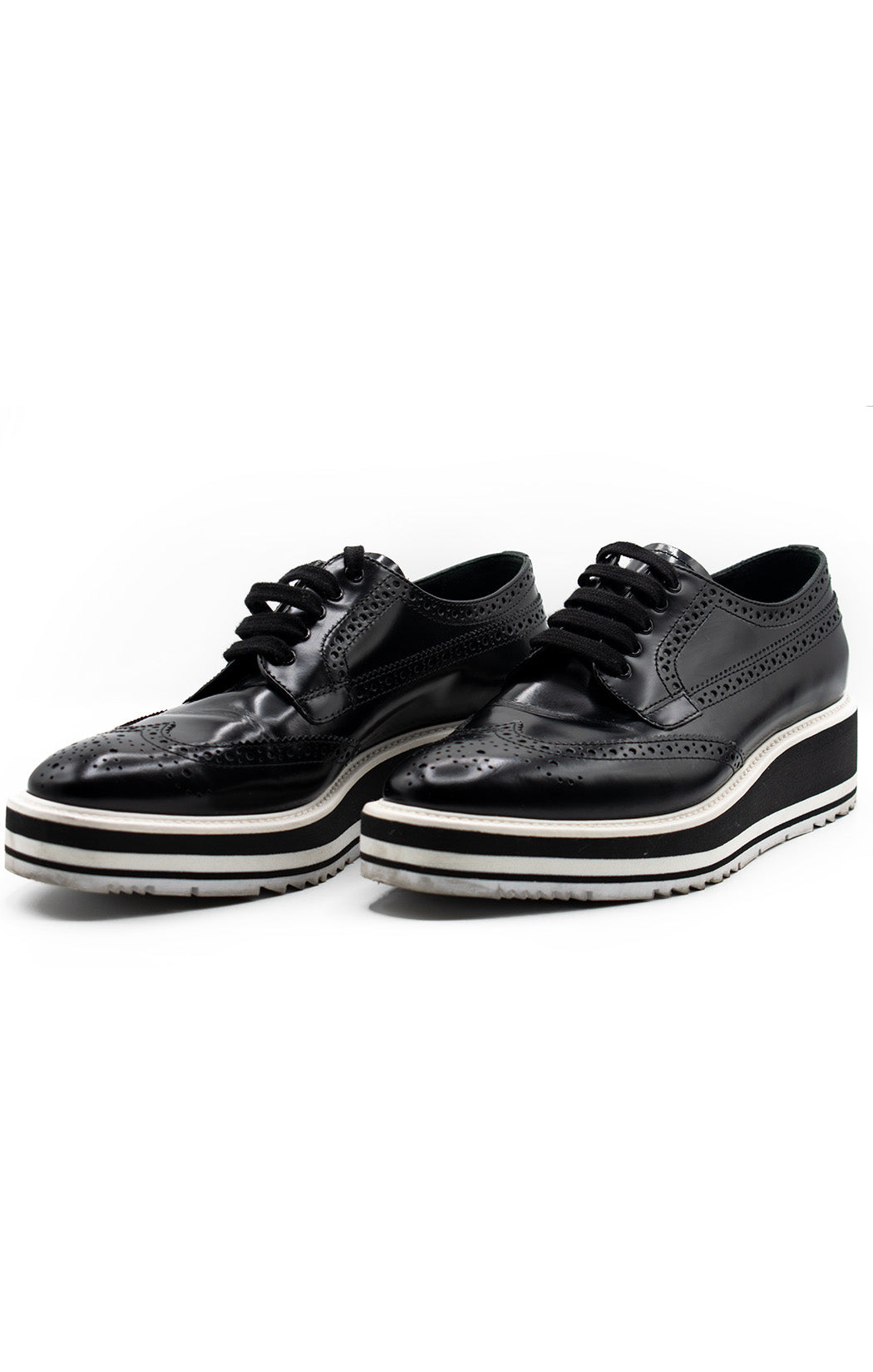Front view of PRADA Oxford shoe Size: 8.5