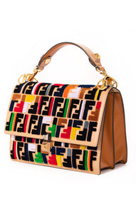 "Front view of FENDI w/tags Handbag Size: 9""H, 9.5""W, 4.25""D"