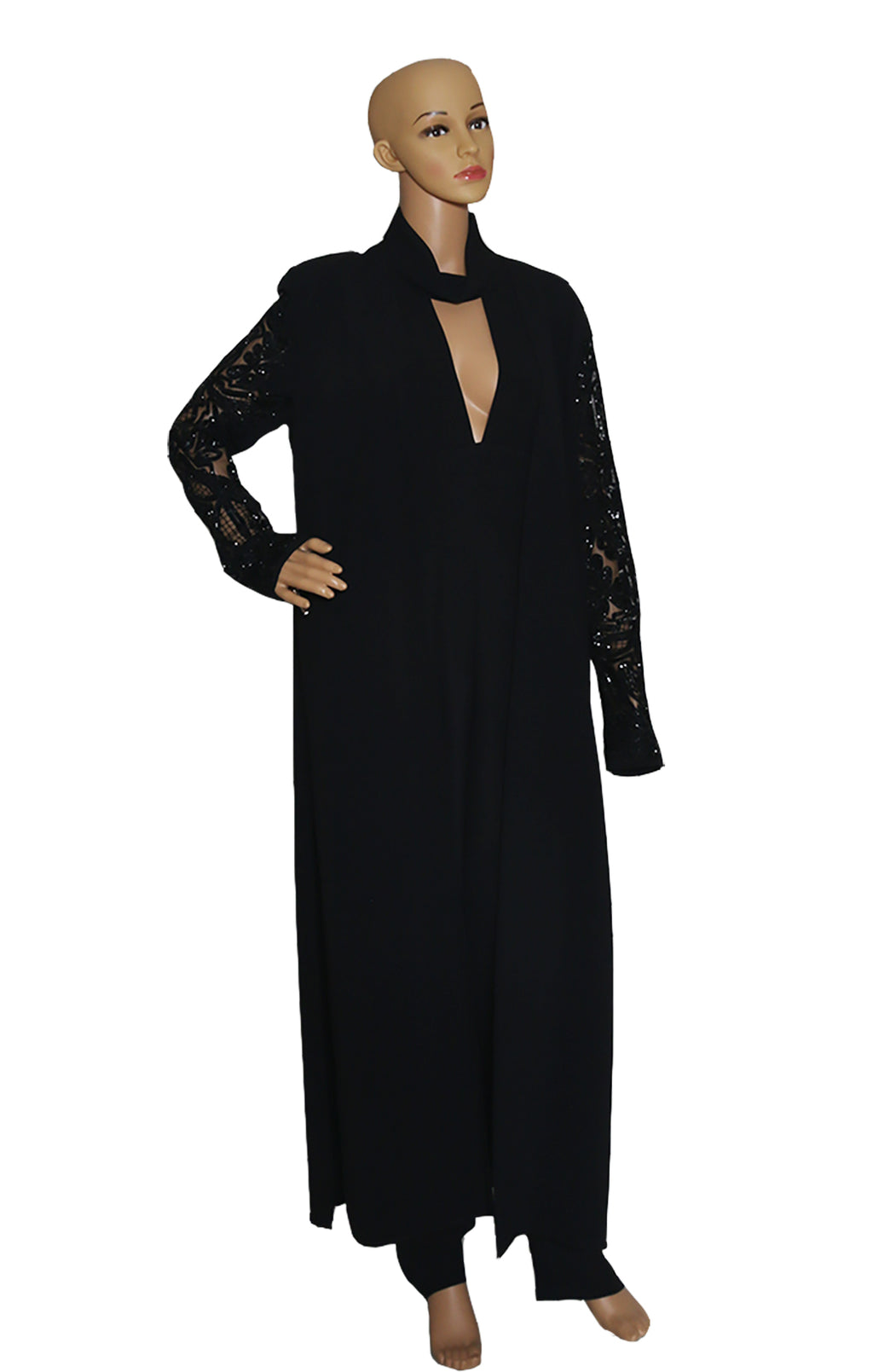 Front view of ELIE SAAB  Long Coat and Jumpsuit  Jumpsuit Size: 42 (US 10) Coat Size: 40 (US 8)