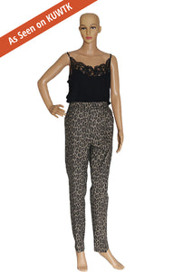 As seen on KUWTK, Front view of MAX MARA  Leopard Pants Size: US 10