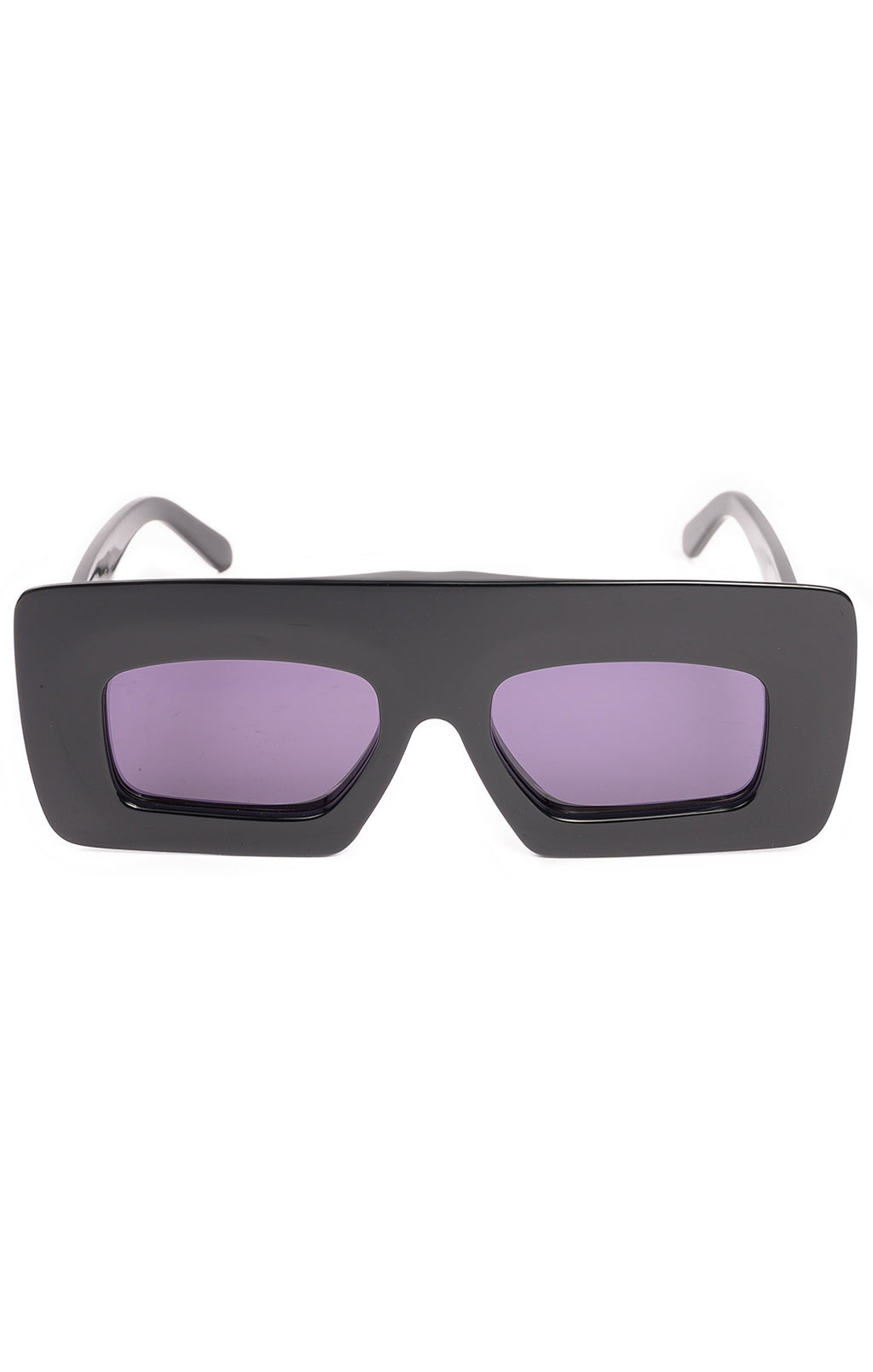 Black with purple lens sunglasses