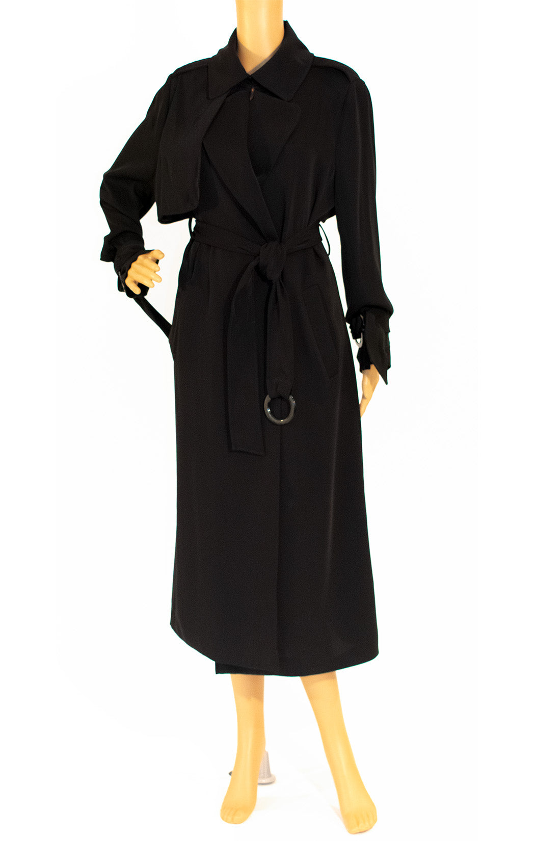 Front view of AQAQ Trench coat Size: 4