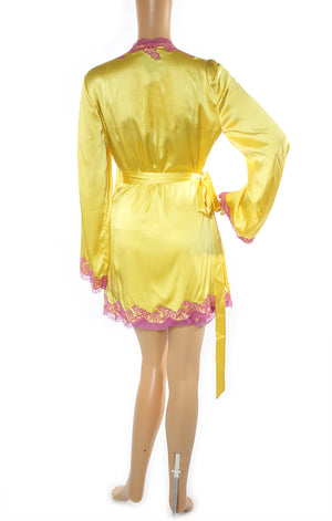 Back view of AGENT PROVOCATEUR Matching Robe and Nightgown with Tags