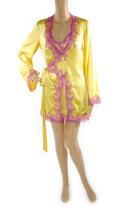 Front view of  AGENT PROVOCATEUR Matching Robe and Nightgown with Tags Size: S/M