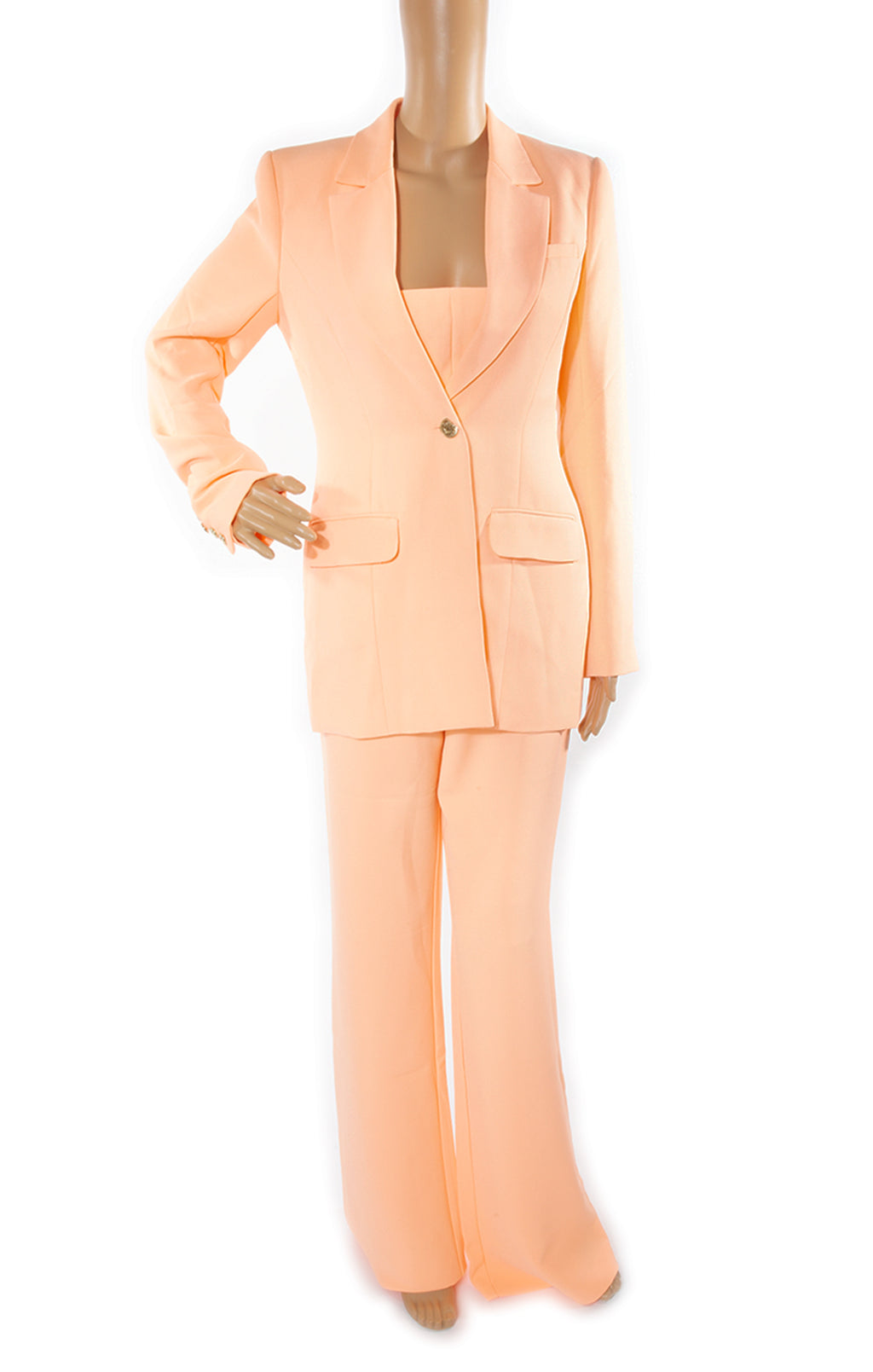 Front view of WHITE FOX Matching Three Piece Suit with Tags Size: Small (fits like US 6-8)
