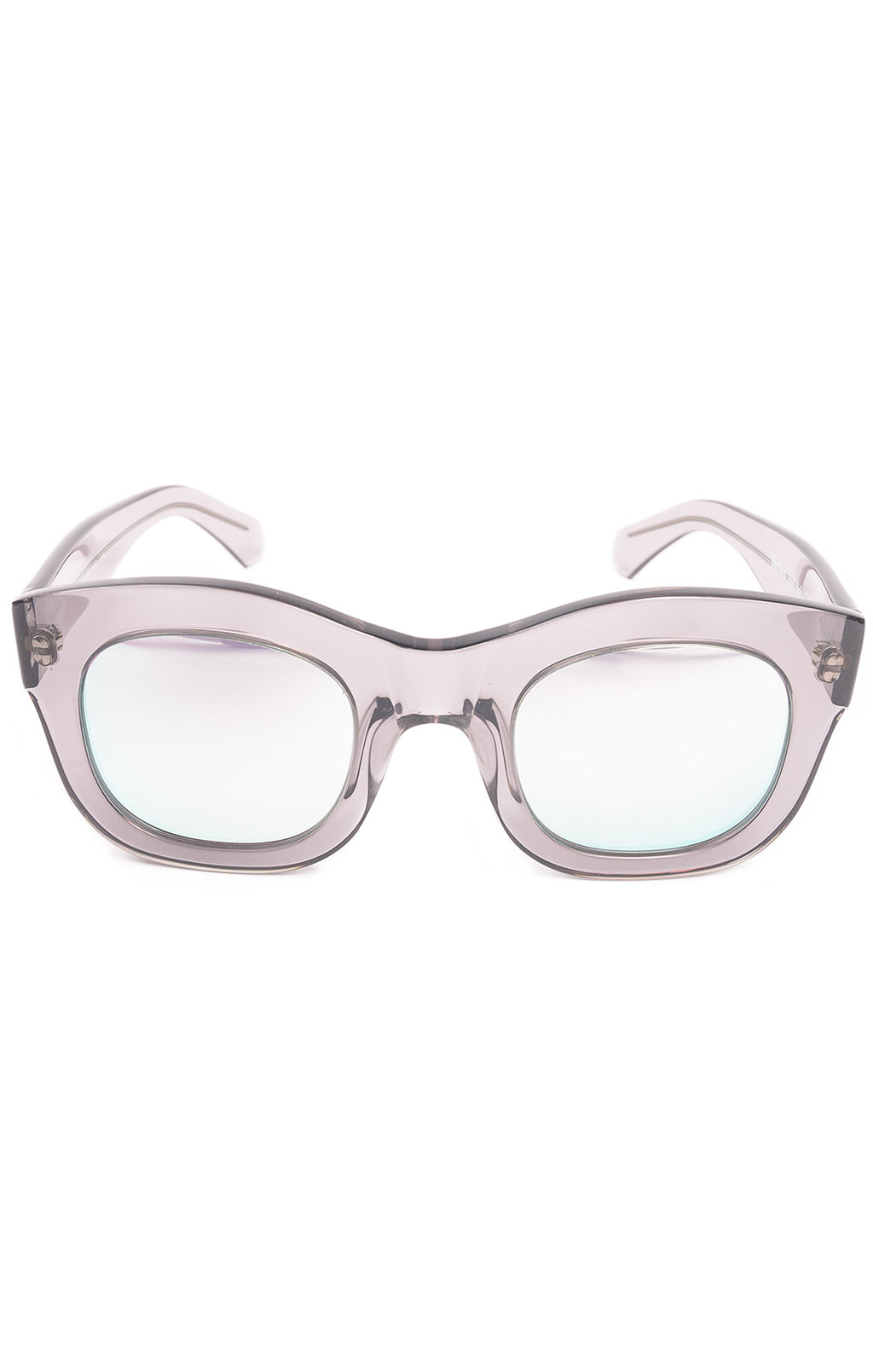 Purple tone frames with mirrored lens