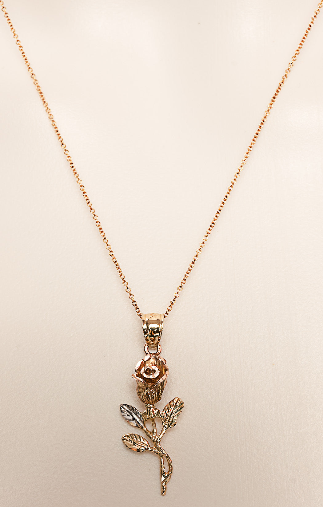 "Necklace  Size: 16"" length chain; pendant 1.5"" long"