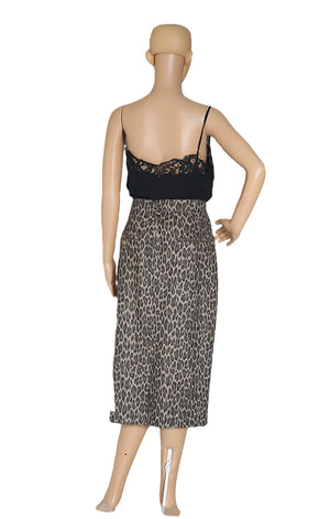 Back view of MAX MARA Leopard Skirt with Tags