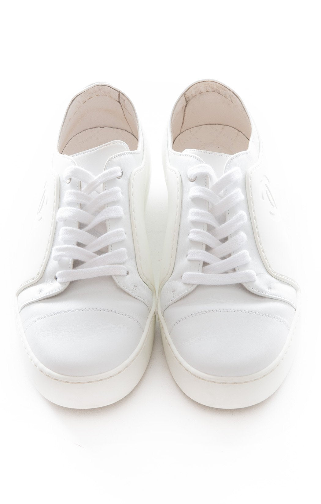 Front view of CHANEL Tennis Shoe Size: 8.5