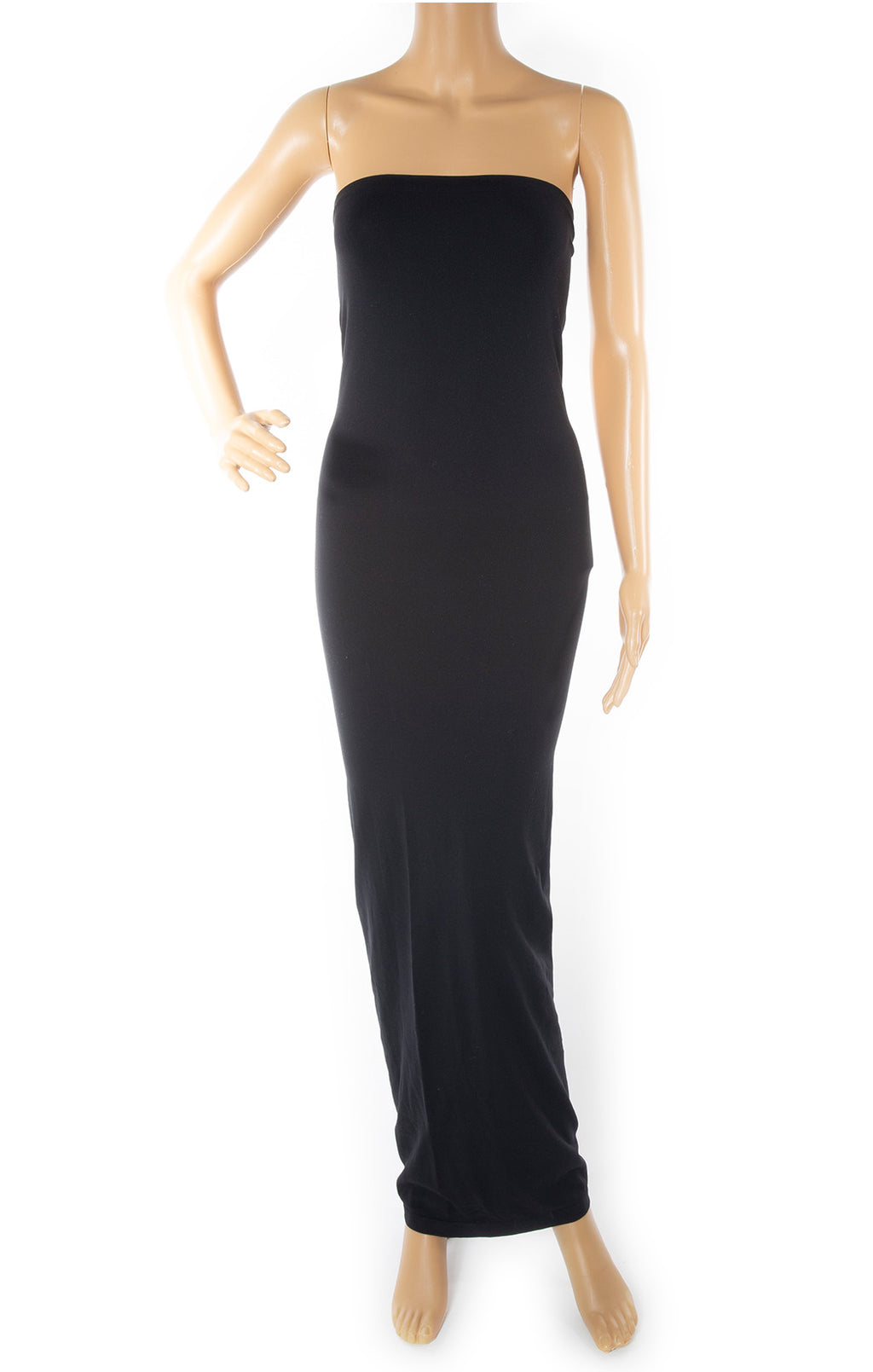 Front view of WOLFORD Strapless long dress Size: Medium