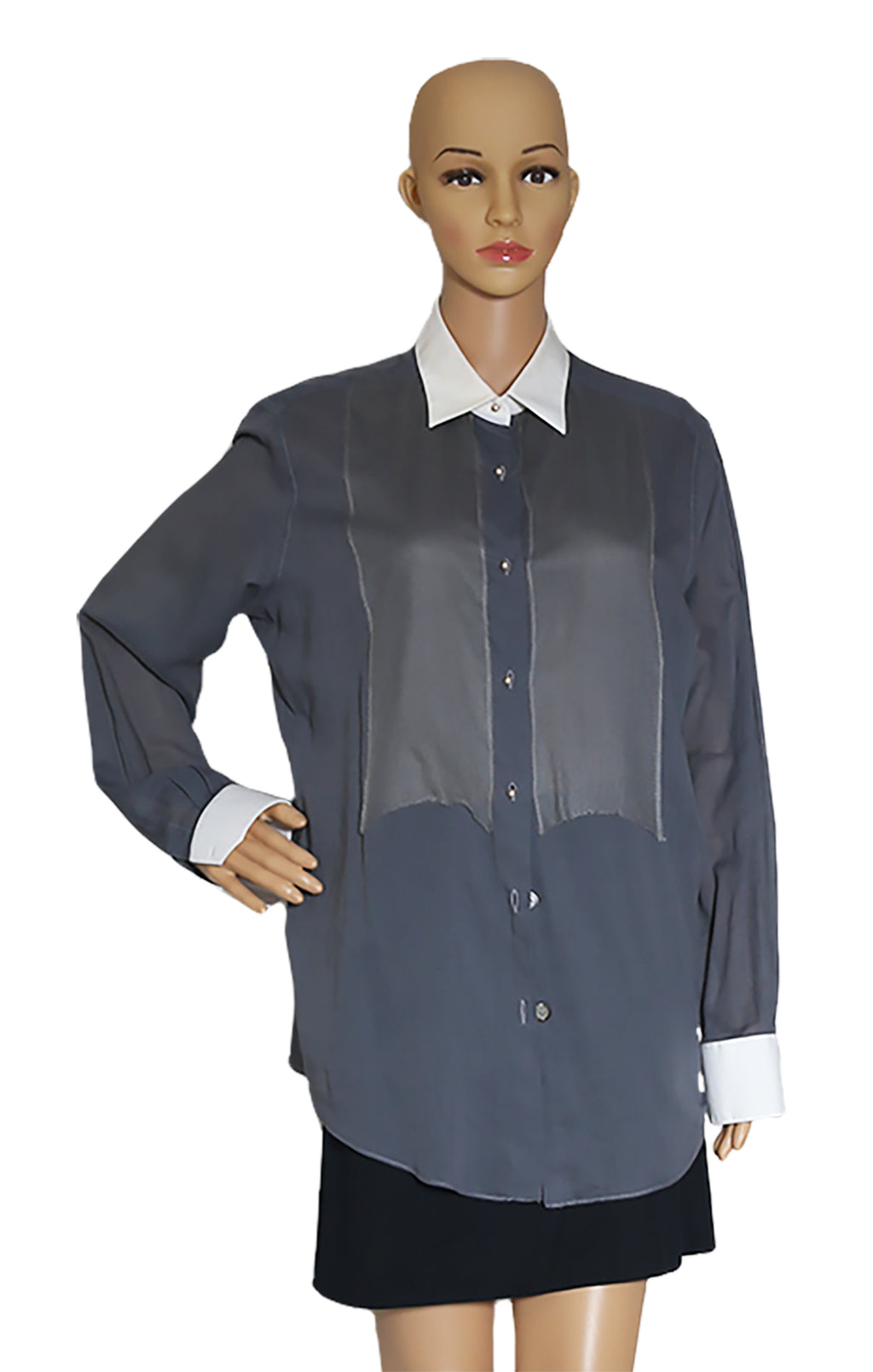 Closeup of LANVIN Cotton Shirt Size: FR 42 (US 10)