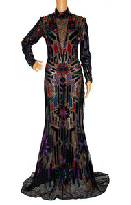 Front view of ROBERTO CAVALLI  Long dress Size: No size tags fits like size 8-10