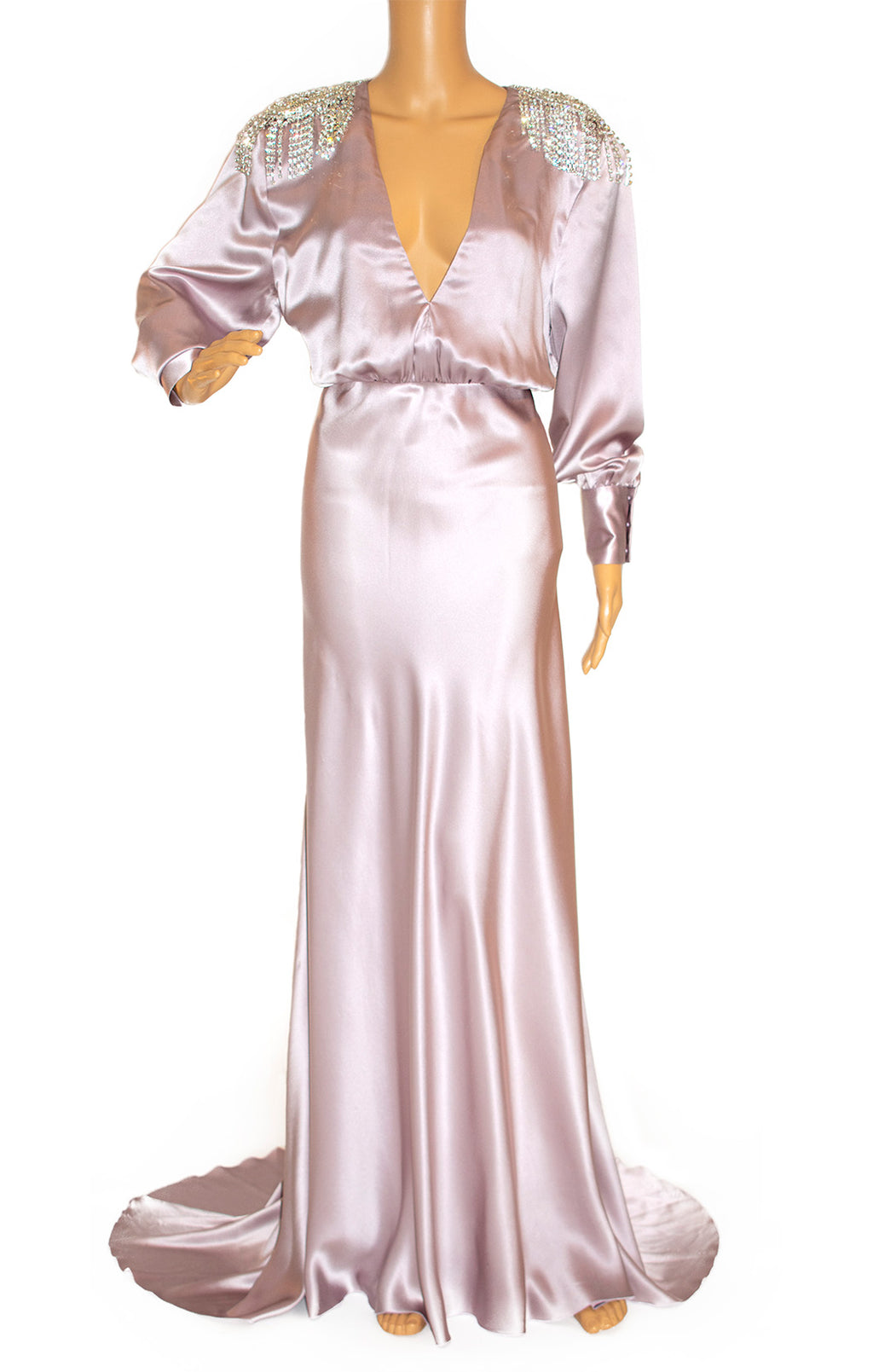 Front view of ALLESANDRE RICH Long dress Size: IT 44 (comparable to US 8)