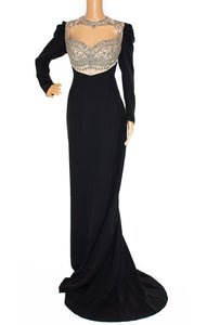 Front view of REEM ACRA Long dress Size: No size tags fits like