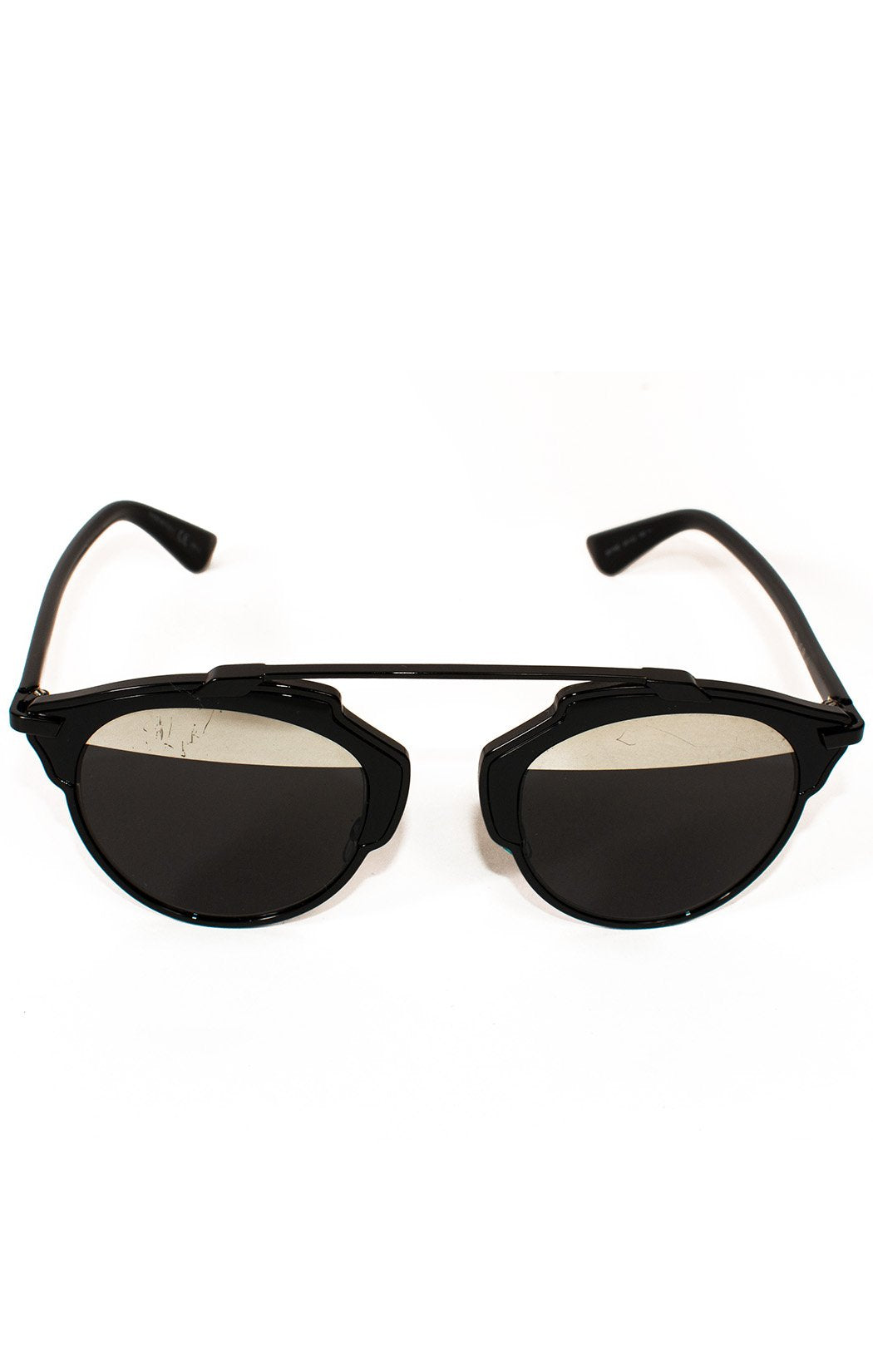 "Front view of CHRISTIAN DIOR  Sunglasses  Size: H 2"", 5"" W"