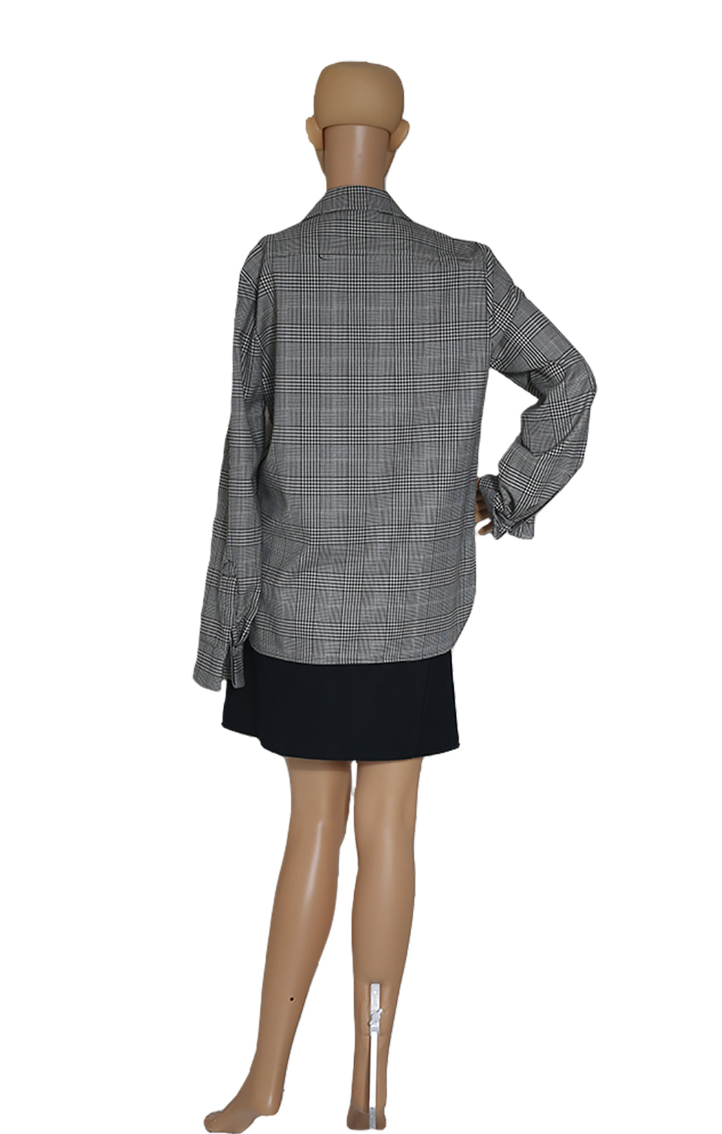 Back view of CELINE Plaid Shirt
