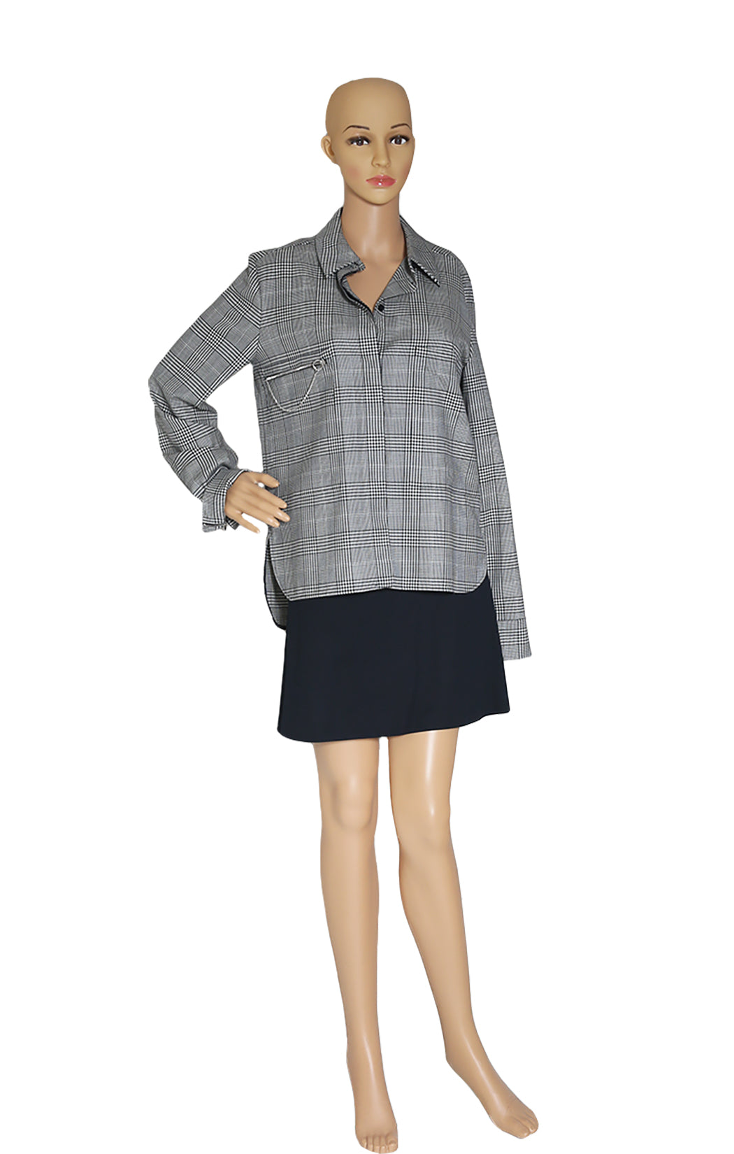 Front view of CELINE Plaid Shirt