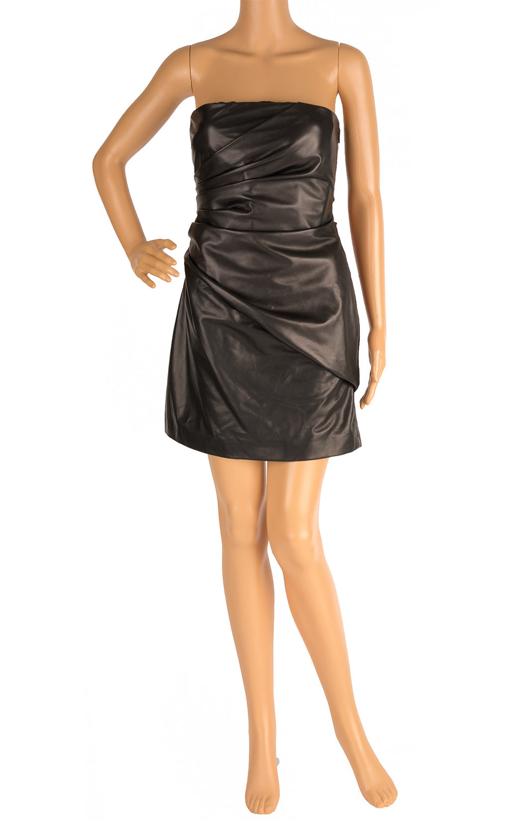 Front view of VERSACE with tags Leather dress Size: IT 42 (comparable to US 4-6)
