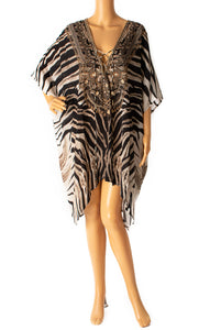 Front view of SHAHIDA with tags Caftan Size: one size