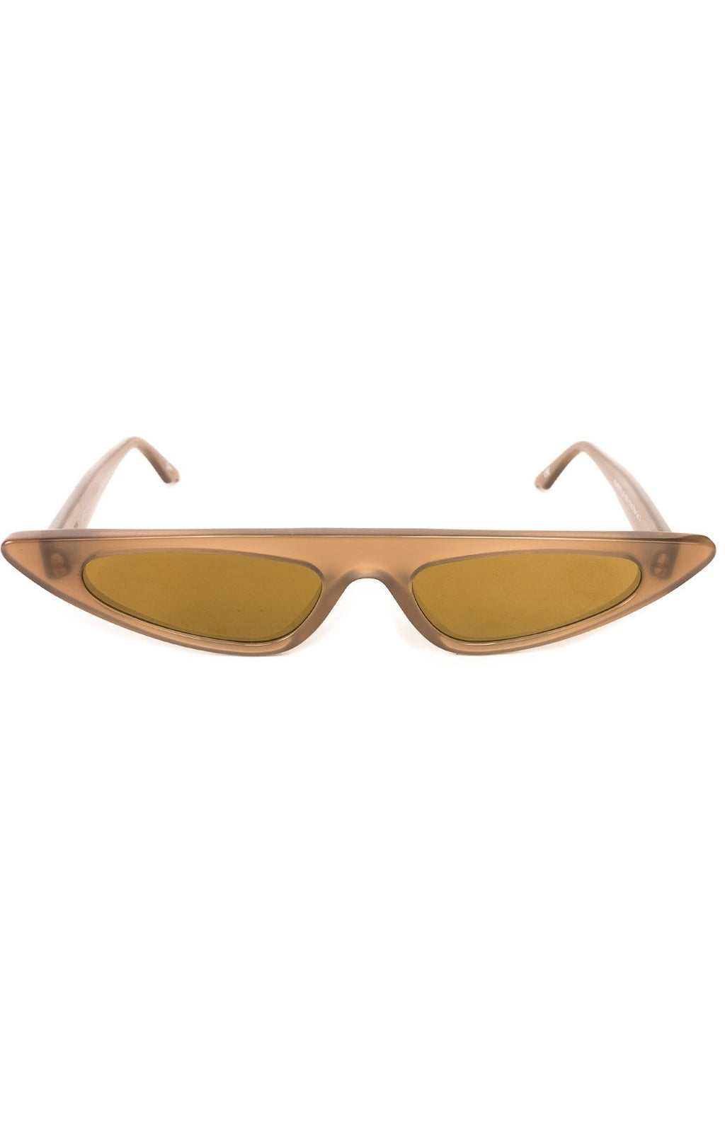 "Front view of ANDY WOLF Sunglasses  Size: 6"" W x 1.25"" H"