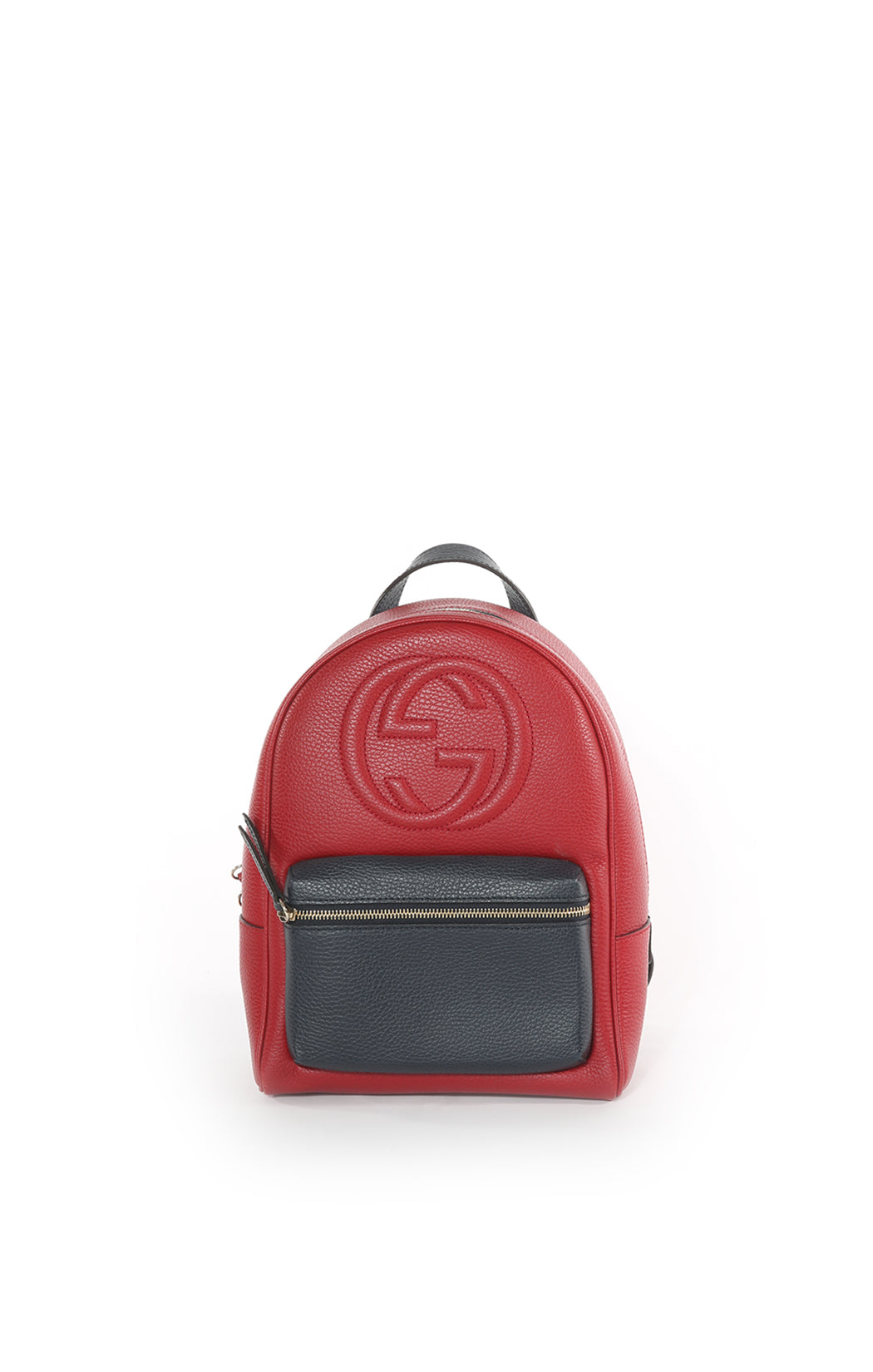 Front view of GUCCI Backpack Size: 9 in x 12 in x 4 in